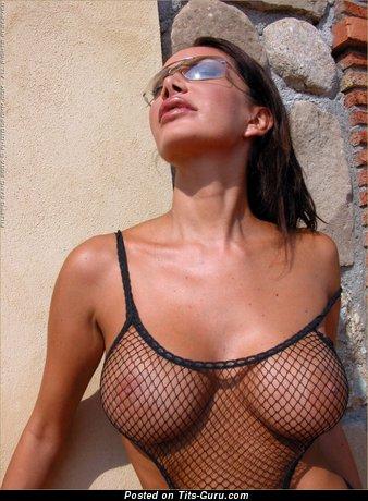 Cristiana - Wonderful Brunette Babe with Wonderful Naked Average Busts (Porn Image)