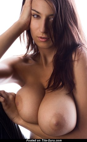 Sexy naked hot lady with huge boobs photo