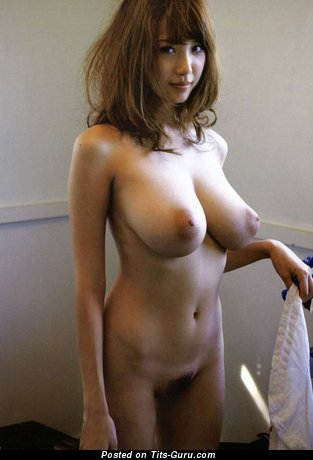 Sexy naked asian brunette image