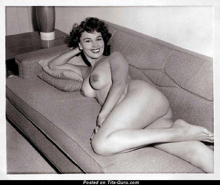 Naked brunette vintage