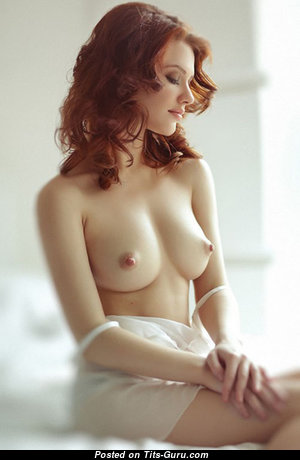 Lovely Red Hair with Lovely Defenseless Real Busts (Hd Sex Photoshoot)