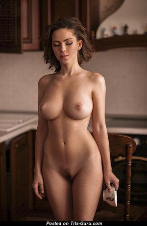 Ksyusha Egorova - Wonderful Russian Babe with Wonderful Exposed Natural Med Tits is Smoking (Sex Pic)