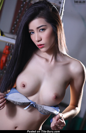 Mapple - Wonderful Topless Asian Brunette with Wonderful Nude Natural Meager Boobies & Big Nipples is Undressing (Hd 18+ Wallpaper)