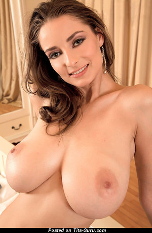 Image. Estelle Taylor - nude brunette with huge natural tots pic