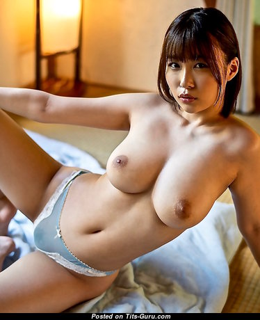 Asuna Kawai - Cute Glamour & Topless Asian Brunette with Large Nipples in Lingerie (Hd Porn Image)