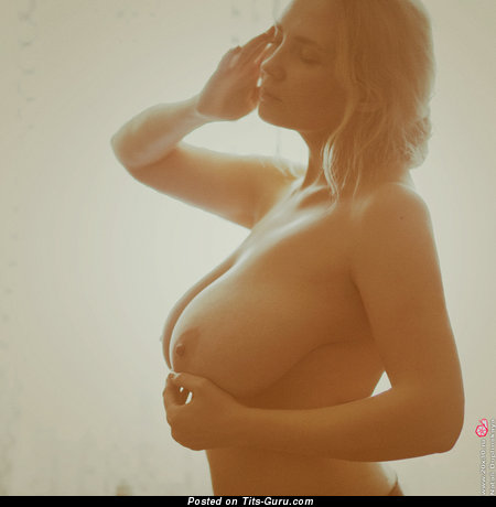 Image. Nude wonderful female with huge natural tittes image