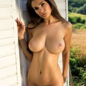 Sexy nude wonderful woman with medium natural boobies image