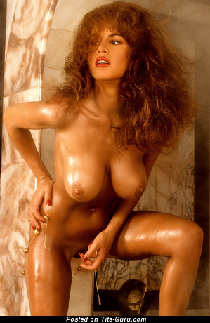 Image. Jessica Hahn - sexy topless red hair with medium breast photo