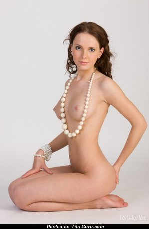 Image. Naked amazing girl with medium natural boob image