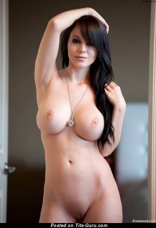 Image. Nude wonderful woman with natural breast image