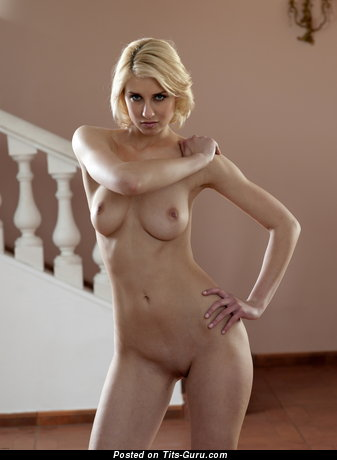 Victoria - nude blonde with medium natural boobs pic