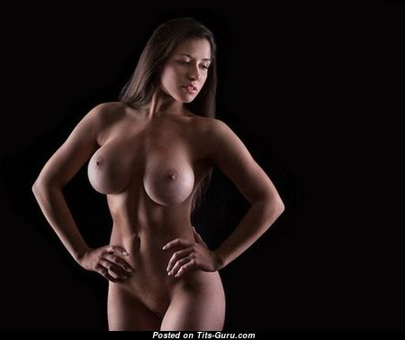Beautiful Babe with Beautiful Nude Mid Size Tits (Sexual Image)
