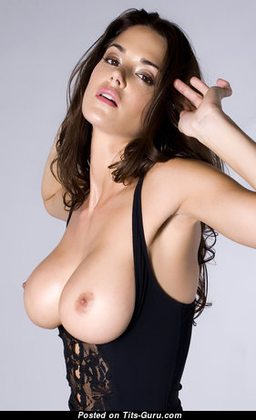 Superb Topless Brunette with Superb Bald Natural Dd Size Hooters & Puffy Nipples is Undressing (Hd Sex Photo)