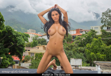 Kendra Roll - sexy naked latina brunette with medium boobs and big nipples picture