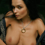 Jenya D - hot girl with medium natural breast image