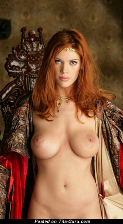 Stunning Red Hair with Stunning Defenseless Soft Breasts (Hd 18+ Photo)