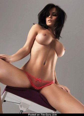 Image. Sexy nude brunette with big tots picture