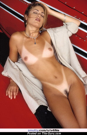 Image. Elisa Bridges - sexy topless brunette with small tittys and big nipples vintage