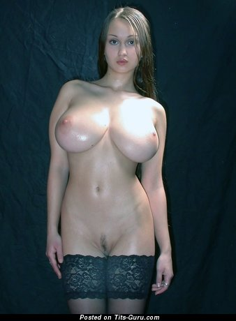 Superb Doll with Superb Naked Hefty Tits (Sexual Photoshoot)