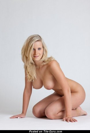 Image. Sexy naked blonde with medium boobs pic