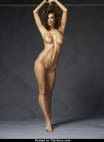 Image. Marisa - naked brunette with medium tots image