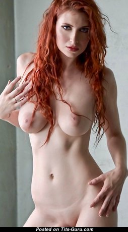 Lovely Red Hair with Lovely Nude Real Medium Boobs (18+ Pic)