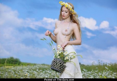 Image. Marianne Merkulova - nude blonde with medium natural tits pic