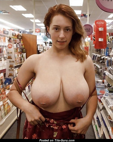 Sweet Topless Red Hair with Sweet Open Real G Size Boobie is Undressing (Amateur Voyeur Sex Photoshoot)