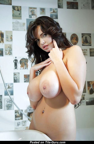 Sha Rizel - Exquisite Topless Ukrainian Brunette with Exquisite Bare G Size Tots (Sexual Photo)