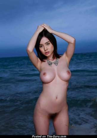 Image. Sexy nude asian brunette with big boob picture