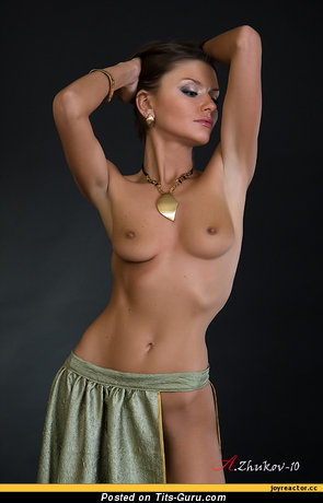 Image. Naked wonderful woman with medium natural tits picture