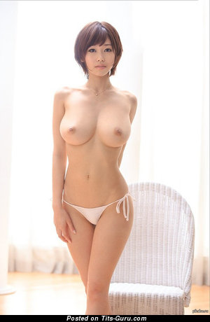 Magnificent Floozy with Magnificent Bare Fake H Size Hooters (Porn Photoshoot)