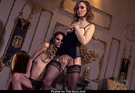 Amazing Lesbians with Amazing Bare Real Soft Boobie (Hd Porn Photoshoot)