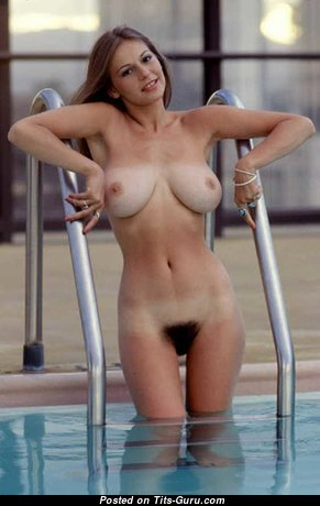 Linda Doucett - Nice Topless American Playboy Blonde with Nice Bare Real Dd Size Tit (Vintage Sex Foto)