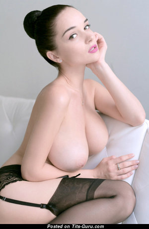Image. Naked beautiful girl with huge natural breast pic