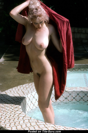 Cher Butler - Charming Topless American Playboy Blonde with Charming Open Real Firm Jugs (Vintage Sexual Photoshoot)