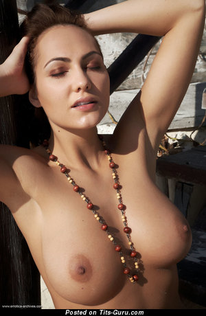 Nude awesome girl with natural tits image