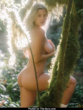 Megan Moore - Wonderful Playboy Blonde with Wonderful Bare D Size Boobies (Xxx Picture)