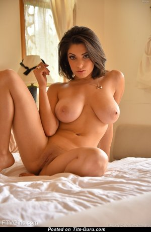 Image. Darcie Dolce - naked brunette with big natural boob photo