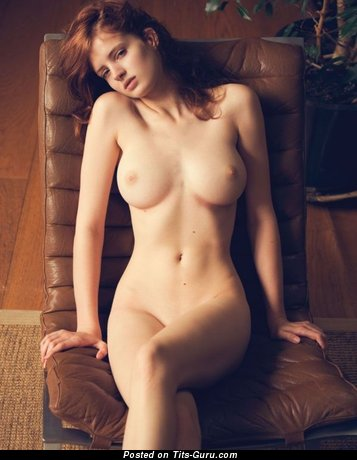 Naked wonderful lady with medium breast image