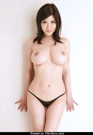 Image. Anri Okita - naked asian brunette with medium boob and big nipples pic
