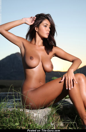 Image. Nude nice female with big natural boob image