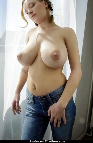 Image. Beautiful female with huge natural tits pic