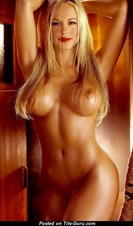 Sexy naked beautiful woman with medium fake tittys image
