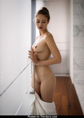 Viktoriia Aliko - Perfect Brunette with Perfect Nude Natural Tight Tit (Porn Image)