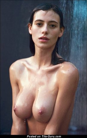 Image. Nude awesome girl with medium natural boob photo
