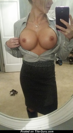 Sexy Topless Skirt with Sexy Exposed Silicone Large Tots (Sex Image)