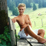 Beautiful female with natural breast photo
