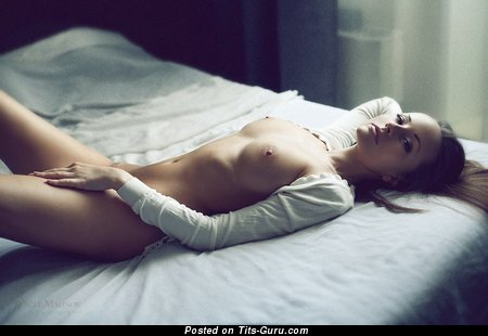 Image. Nude wonderful woman with medium natural tittys photo