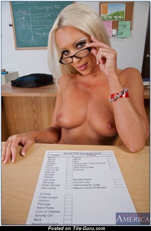 Diana Doll - Marvelous Slovak Blonde Actress, Teacher & Pornstar with Marvelous Naked Natural Minuscule Boobys (Porn Photo)